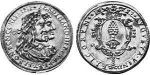 2 Дукат Аугсбург (1276 - 1803) Золото Ferdinand III, Holy Roman Emperor (1608-1657)