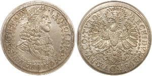 2 Thaler Sacro Imperio Romano (962-1806) Plata Leopoldo I de Habsburgo(1640-1705)