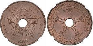 10 Centime Congo belge (1908 - 1960)