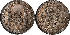 4 Реал Новая Испания (1519 - 1821) Серебро Филипп V король Испании (1683-1746)