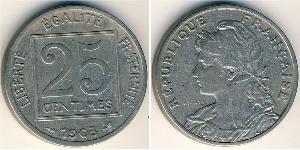 25 Centime Troisième République (1870-1940)  Nickel