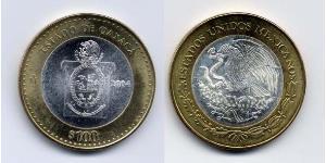100 Peso Mexiko (1867 - ) Bimetall