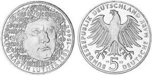 5 Mark West Germany (1949-1990) Copper/Nickel