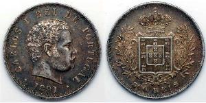 500 Reis Royaume de Portugal (1139-1910) Argent Charles I de Portugal (1863-1908)