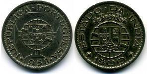 1 Escudo Portuguese India (1510-1961) Copper/Zinc