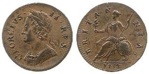 1/2 Penny Kingdom of Great Britain (1707-1801) Copper George II (1683-1760)