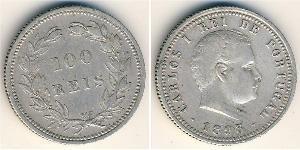 100 Reis Royaume de Portugal (1139-1910) Argent