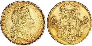 12800 Reis Kingdom of Portugal (1139-1910) Gold Johann V. von Portugal (1689-1750)