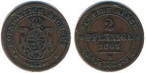 2 Pfennig States of Germany Kupfer