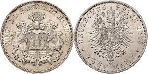 5 Mark Hamburg Silver
