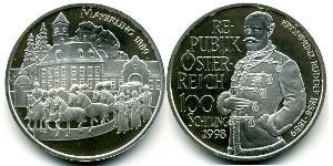100 Shilling Republic of Austria (1955 - ) Argento