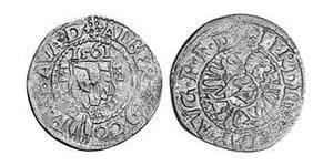 2 Крейцер Баварія (герцогство) (907 - 1623) Срібло Albert V, Duke of Bavaria (1528 – 1579)