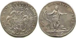 9 Tari Ordine di Malta (1080 - ) Argento