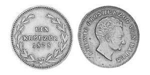 1 Kreuzer Grand-duché de Bade (1806-1918) Cuivre Louis Ier de Bade(1763 - 1830)