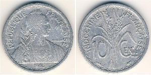 10 Cent Indocina francese (1887-1954) Alluminio