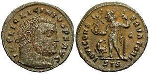 1 Фоллис Римская империя (27BC-395) Бронза Лициний I (265-324)