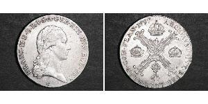 1/2 Thaler Paesi Bassi austriaci (1713-1795) Argento Francis II, Holy Roman Emperor (1768 - 1835)