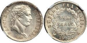 1/2 Franc Erstes Kaiserreich (1804-1814) Silber Napoleon Bonaparte(1769 - 1821)