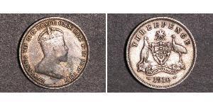 1 Threepence Австралія (1788 - 1939) Срібло Едвард VII (1841-1910)
