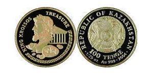100 Tenge Kazakistan (1991 - ) Oro
