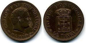 1/4 Tanga Portuguese India (1510-1961) Bronze