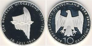 10 Mark 德国 銀