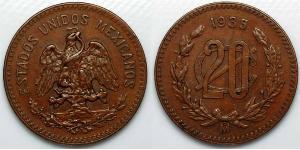 20 Centavo Messico (1867 - ) Rame