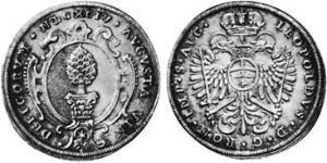 1/4 Талер Аугсбург (1276 - 1803) Срібло Леопольд I Габсбург(1640-1705)