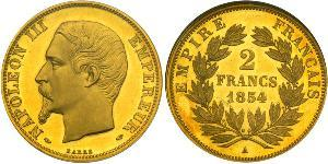 2 Franc Second French Empire (1852-1870) Gold Napoleon III (1808-1873)