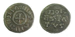 1 Dinar Kingdom of France (843-1791) Silber Lothar I (795 -855)