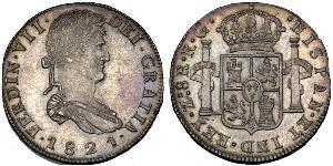 8 Real First Mexican Empire (1821 - 1823) Silver Ferdinand VII of Spain (1784-1833)