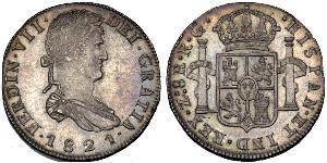 8 Real Kaiserreich Mexiko (1821 - 1823) Silber Ferdinand VII. von Spanien (1784-1833)