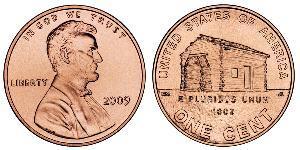 1 Cent Estados Unidos de América (1776 - ) Cobre/Zinc Abraham Lincoln (1809-1865)