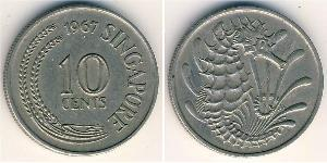 10 Cent 加拿大 / Singapore 镍/銅 伊丽莎白二世 (1926-)