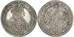 1 Талер Священна Римська імперія (962-1806) Срібло Леопольд I Габсбург(1640-1705)