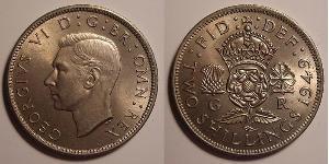 1 Флорін Велика Британія (1922-) Нікель/Мідь Георг VI (1895-1952)