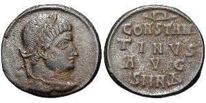 1 Follis /  AE3 Impero romano (27BC-395) Bronzo Costantino I (272 - 337)