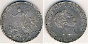 1 Thaler Königreich Württemberg (1806-1918) Silber