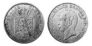 1/6 Thaler Anhalt-Dessau (1603 -1863) / Duchy of Anhalt (1806 - 1918) Silver Leopold IV, Duke of Anhalt (1794 – 1871)
