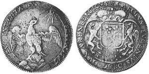 2/3 Thaler County of Arenberg (1549 - 1810) 銀 Charles Eugene, 2nd Duke of Arenberg (1633–1681)