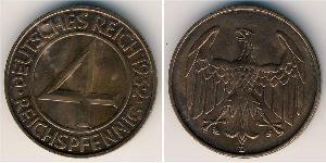 4 Reichpfennig République de Weimar (1918-1933) Bronze