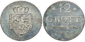 12 Grote Федеральні землі Німеччини Срібло Peter Friedrich Wilhelm (1754 - 1823)