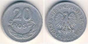 20 Grosh Volksrepublik Polen (1952-1990) Aluminium