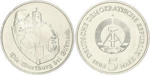 5 Mark German Democratic Republic (1949-1990) Copper/Nickel/Zinc
