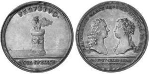1 Thaler Principality of Ansbach (1398–1792) 銀 Charles William Frederick, Margrave of Brandenburg-Ansbach (1712 – 1757)
