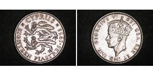 18 Piastre British Cyprus (1914–1960) 銀 乔治六世 (1895-1952)