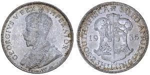 2 Shilling Sudafrica Argento Giorgio V (1865-1936)