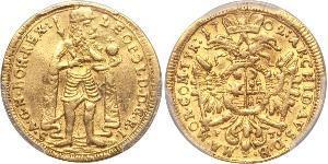 1 Ducat Principality of Transylvania (1571-1711) Oro Leopoldo I de Habsburgo(1640-1705)