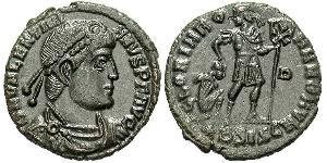 1 Follis /  AE3 Imperio romano (27BC-395) Bronce Valentiniano I (321-375)