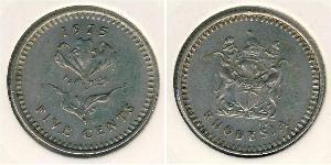 5 Цент Родезия (1965 - 1979) Медь/Никель
